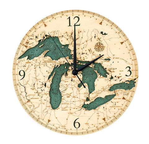 "Great Lakes Clock, 12"" Diameter"