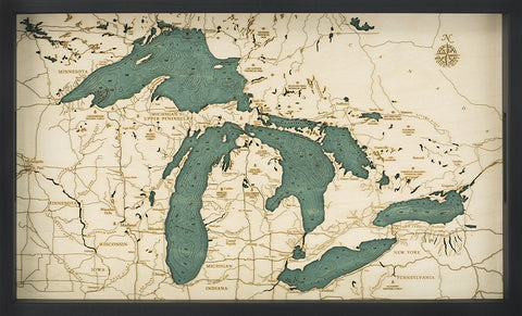 "Great Lakes Serving Tray 20"" X 13"""