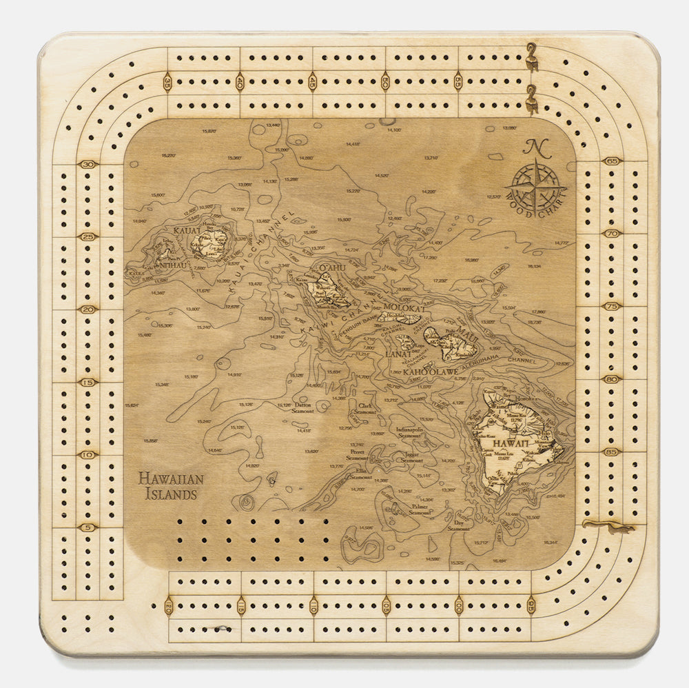 Hawaiian Islands Cribbage Board