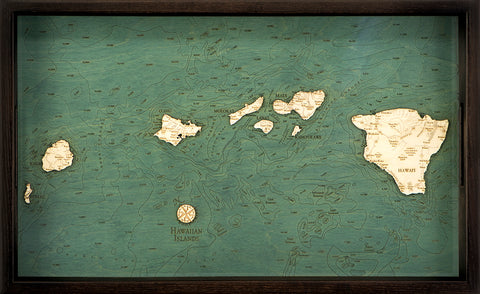 "Hawaiian Islands Serving Tray, 20"" x 13"""