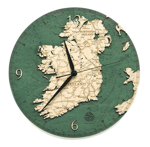 "Ireland Clock, 12"" Diameter"