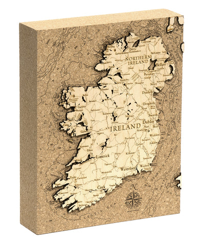 "Ireland Cork Map, 8"" x 10"""