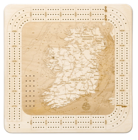 Ireland Cribbage Board