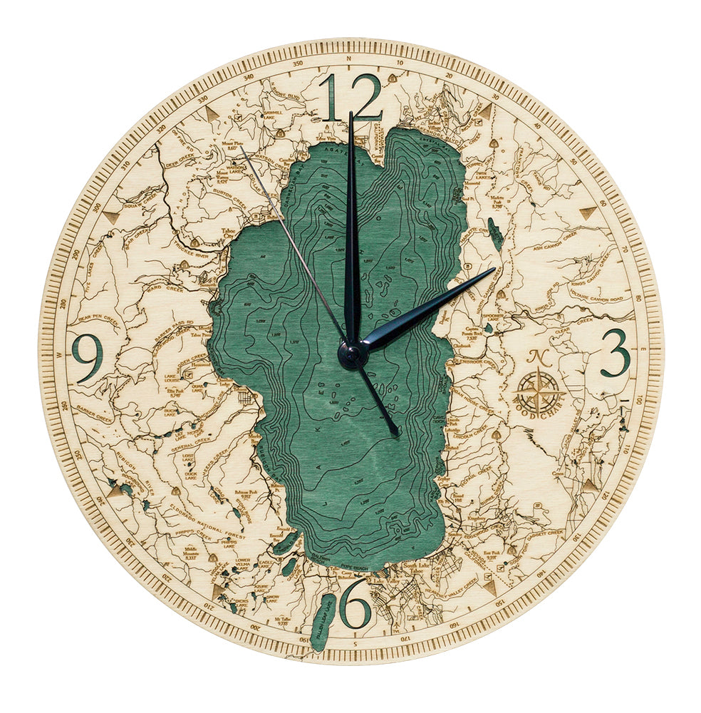 "Lake Tahoe Clock, 12"" Diameter"