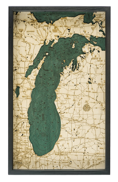 "Lake Michigan Serving Tray 20"" X 13"""