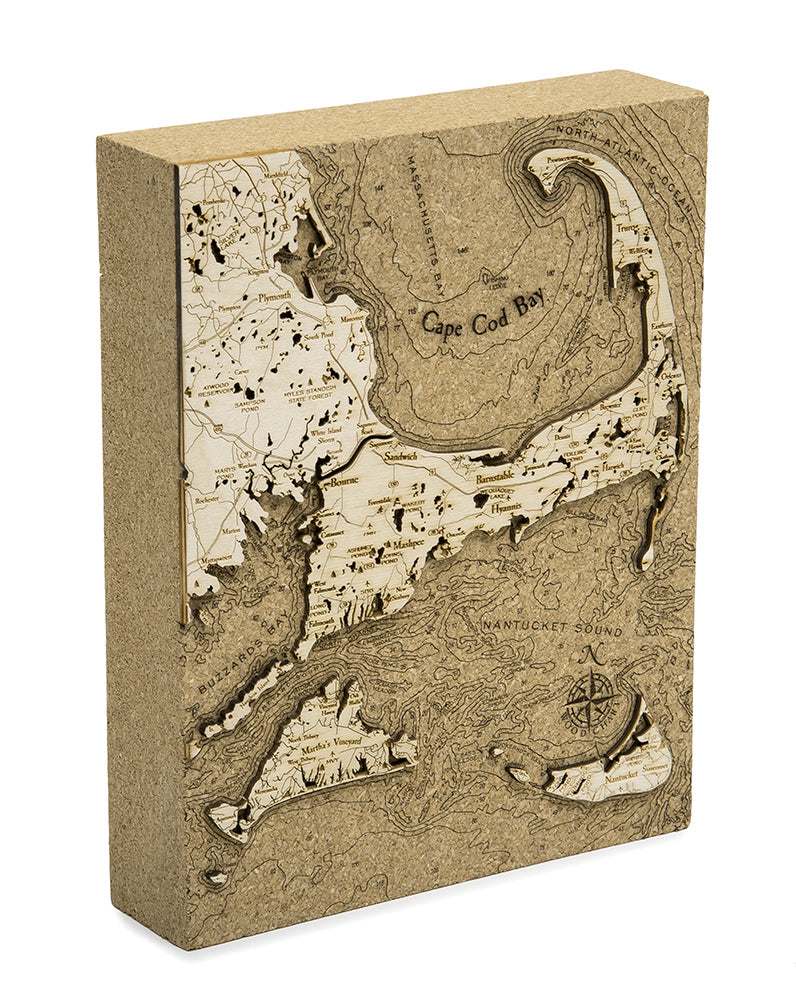 "Cape Cod Cork Map, 8"" x 10"""