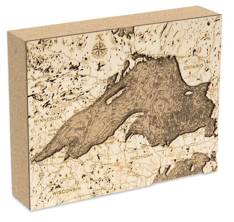 "Lake Superior Cork Map, 8"" x 10"""