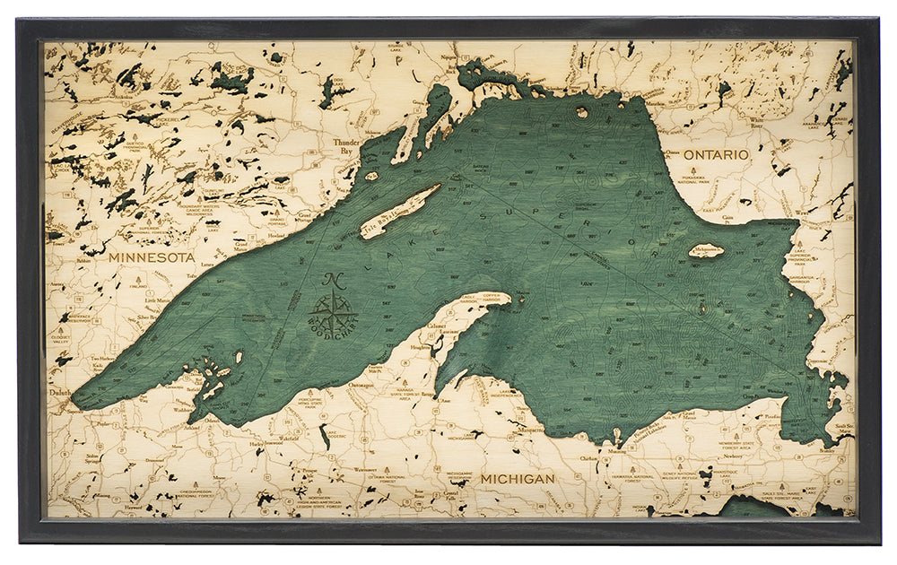 "Lake Superior Serving Tray 20"" X 13"""