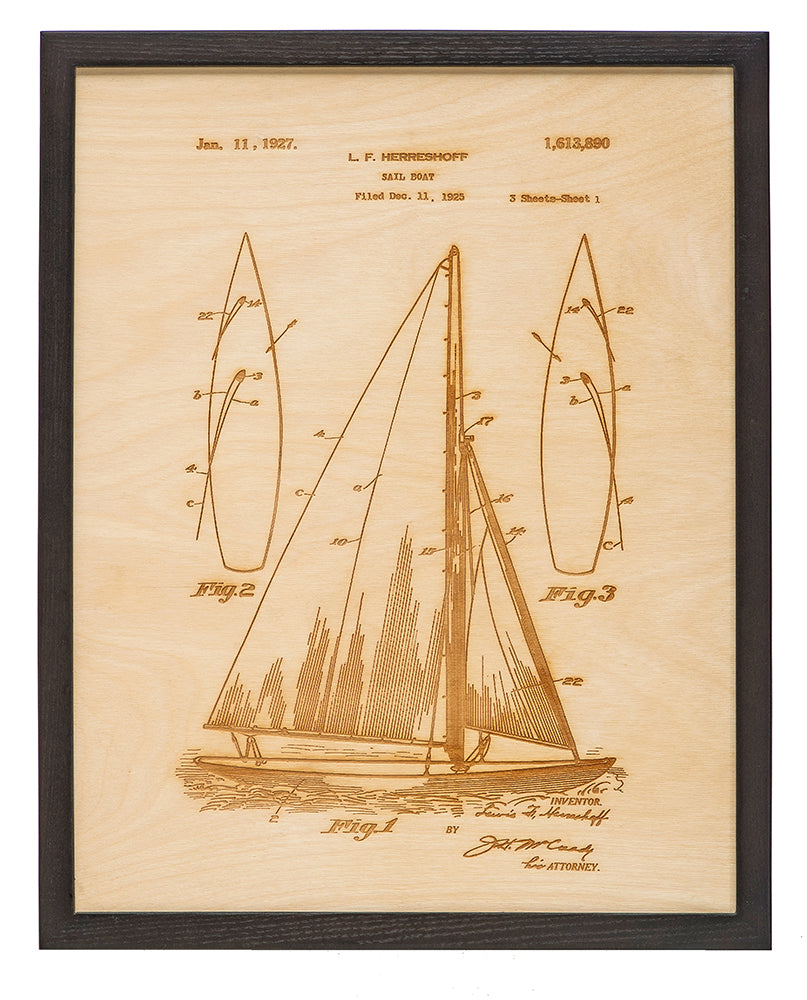 Patent Art - Sailboat