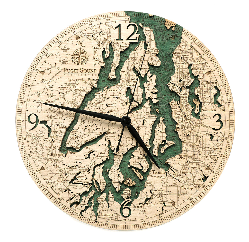 "Puget Sound Clock, 12"" Diameter"