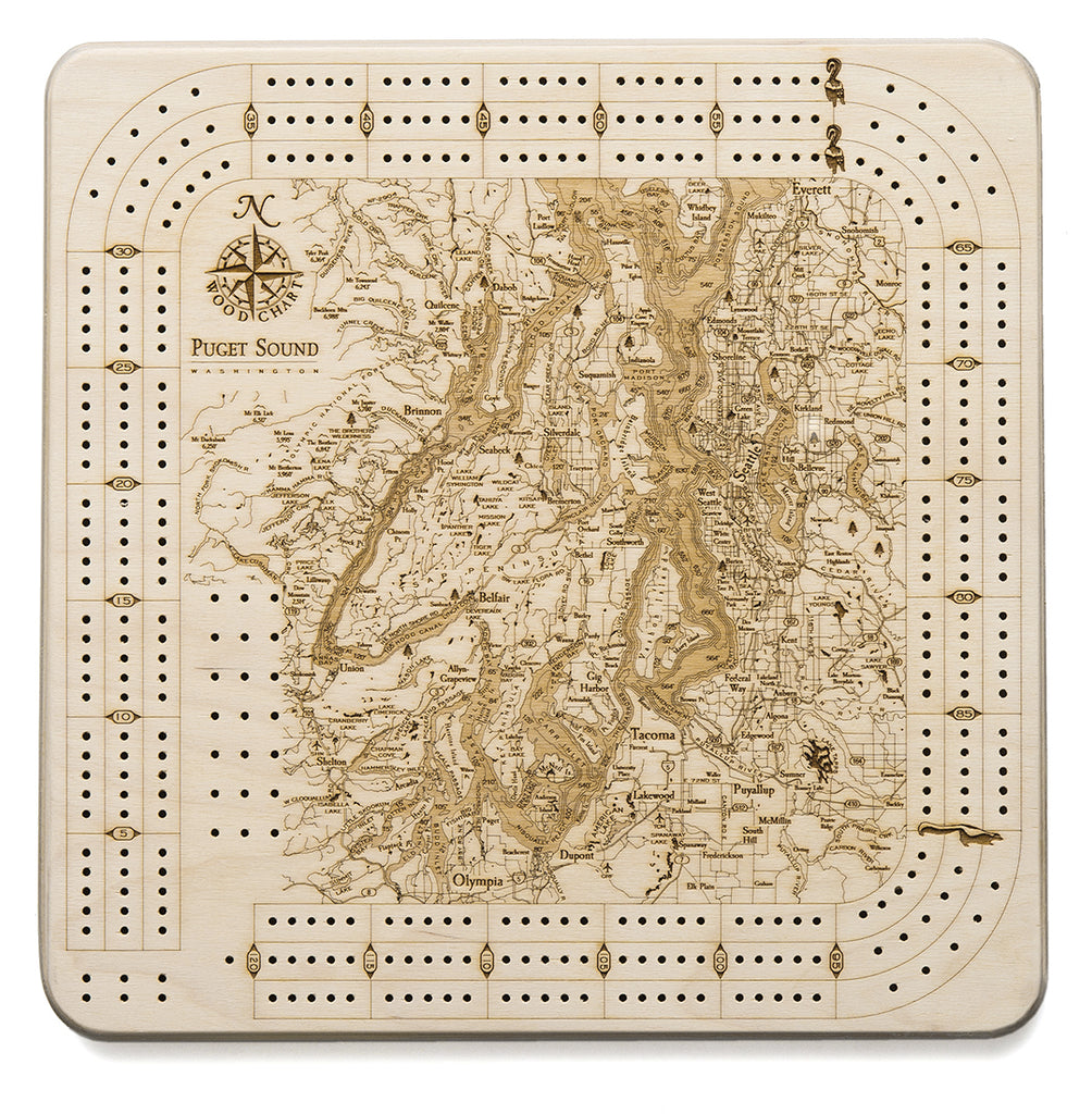 Puget Sound Cribbage Board