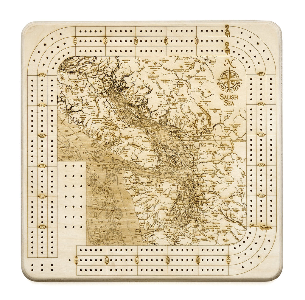 Salish Sea Cribbage Board