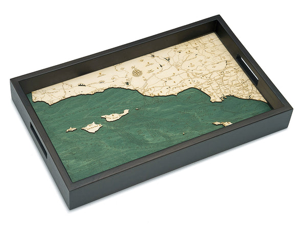 "Santa Barbara/Channel Islands Serving Tray 20"" X 13"""