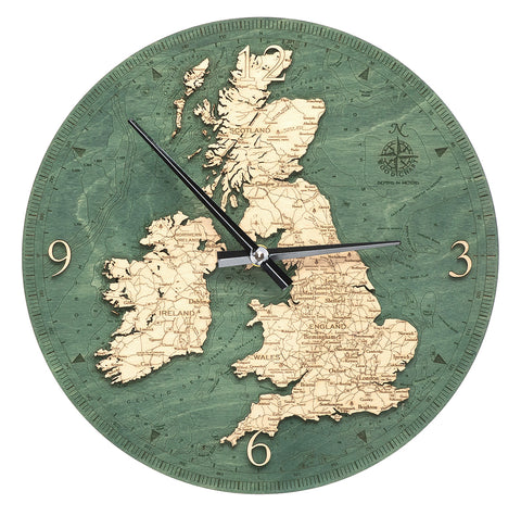 "United Kingdom Clock, 12"" Diameter"