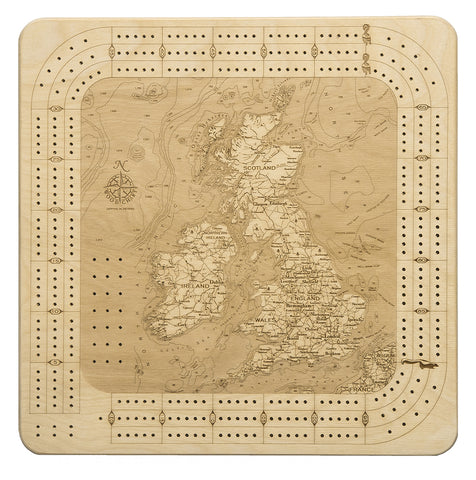 United Kingdom Cribbage Board