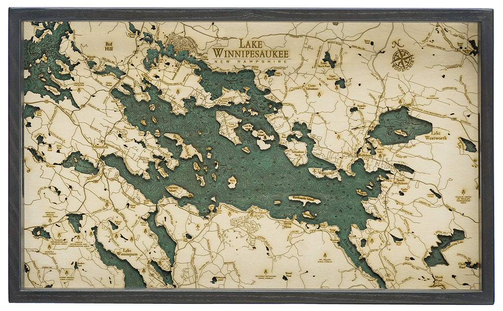 "Lake Winnipesaukee Serving Tray 20"" X 13"""