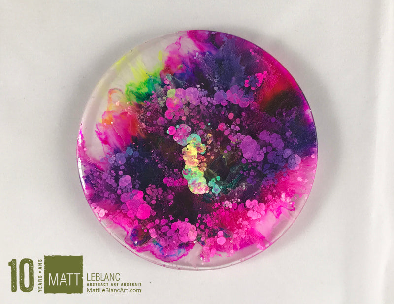 "Matt LeBlanc Supernova Art - 3.5"" round - 0014"
