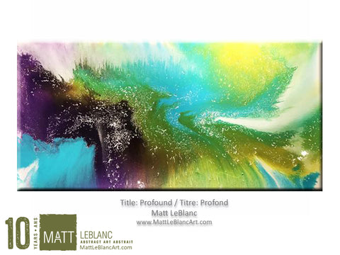 Profound by Matt LeBlanc Art-24x48