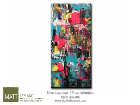 Intention - Original Abstract Art by Matt LeBlanc-10x20