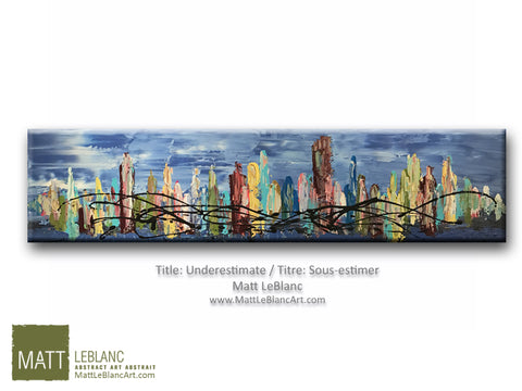Portfolio - Underestimate - Original Abstract Painting by Matt LeBlanc Art-12x48