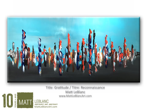 Gratitude by Matt LeBlanc Art-24x48