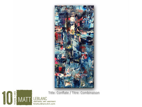Conflate by Matt LeBlanc Art - 12x24