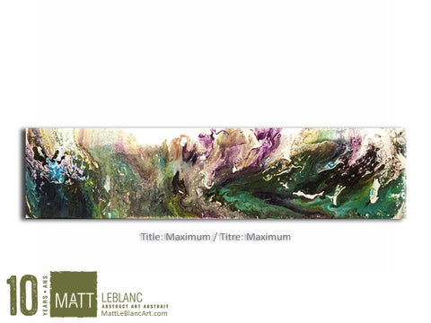 Portfolio - Maximum by Matt LeBlanc Art - 12x48