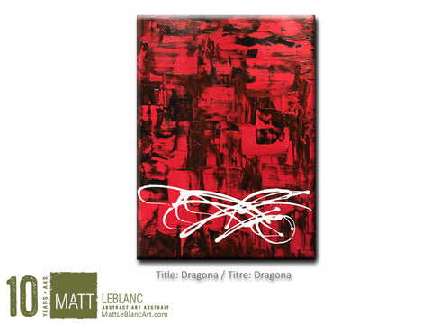 Dragona by Matt LeBlanc Art-18x24