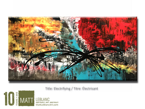 Portfolio - Electrifying by Matt LeBlanc Art-24x48