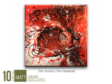 Flourish by Matt LeBlanc Art-36x36