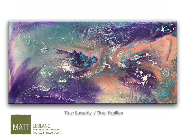 Portfolio - Butterfly by Matt LeBlanc Art-24x48