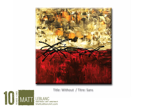 Without by Matt LeBlanc Art-24x24