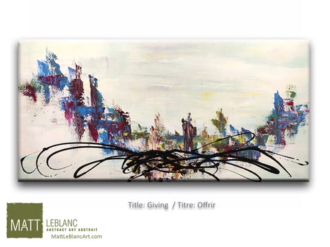 Giving by Matt LeBlanc Art-24x48
