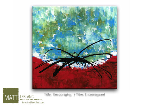 Encouraging by Matt LeBlanc Art-36x36