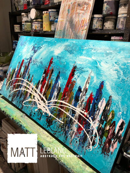 Disturbance by Matt LeBlanc Art-24x48