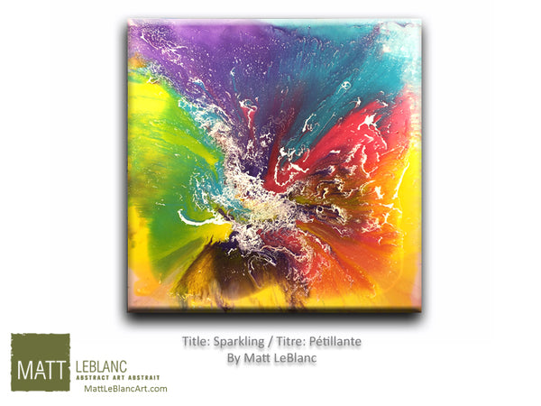 Sparkling by Matt LeBlanc Art-36x36