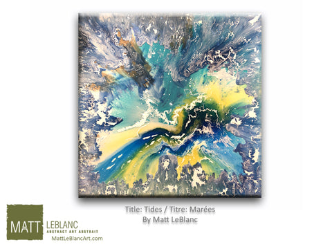 Tides by Matt LeBlanc Art-36x36
