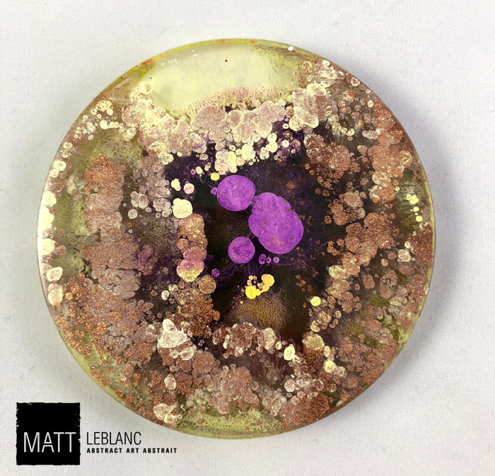 "Matt LeBlanc Supernova Art - 3.5"" round - 0085"