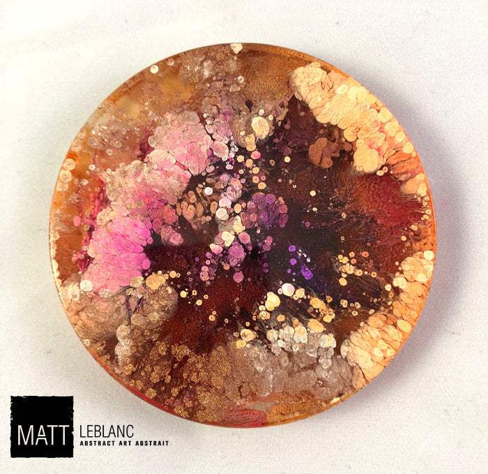 "Matt LeBlanc Supernova Art - 3.5"" round - 0090"