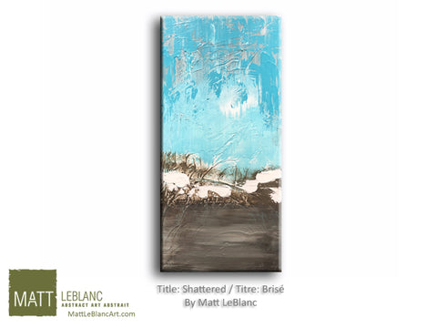 Shattered by Matt LeBlanc Art - 12x24