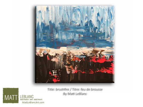 Brushfire by Matt LeBlanc-12x12