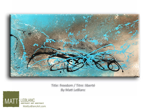 Portfolio - Freedom by Matt LeBlanc Art-24x48
