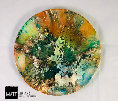 "Matt LeBlanc Supernova Art - 8.5"" round - 0092"