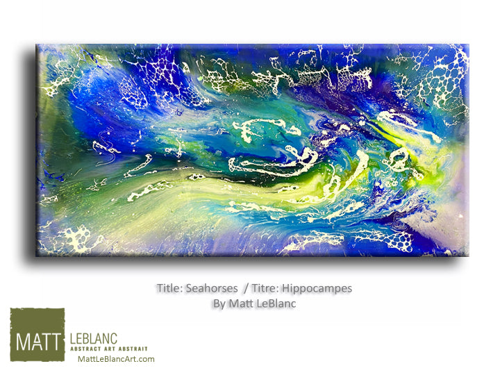 Seahorses by Matt LeBlanc Art-24x48