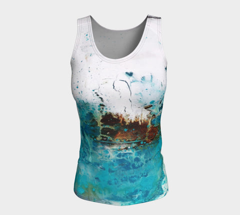 Matt LeBlanc Art LONG Fitted Tank Top - Design 001