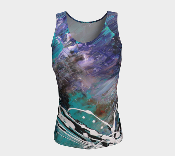 Matt LeBlanc Art LONG Fitted Tank Top - Design 003