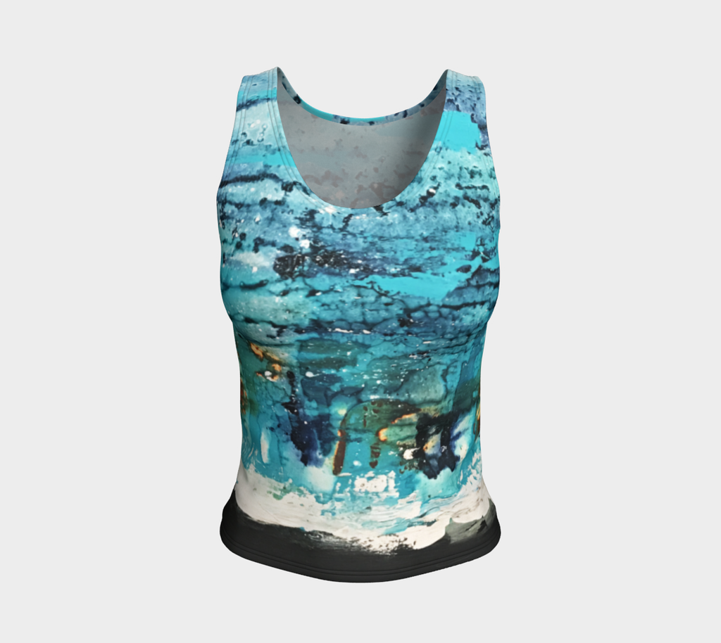 Matt LeBlanc Art REGULAR Fitted Tank Top - Design 007