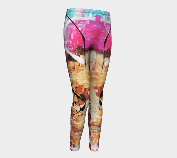 Matt LeBlanc Art Youth Leggings - Design 004