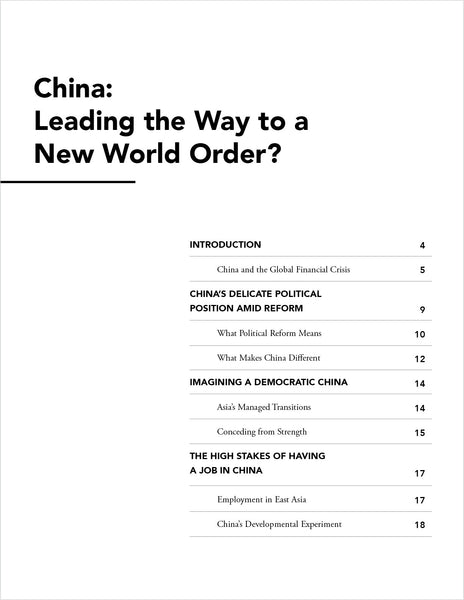 China: Leading the Way to a New World Order?