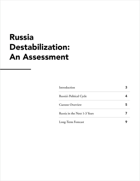 Russia Destabilization: An Assessment